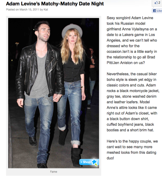 adam levine girlfriend. Adam Levine and his girlfriend
